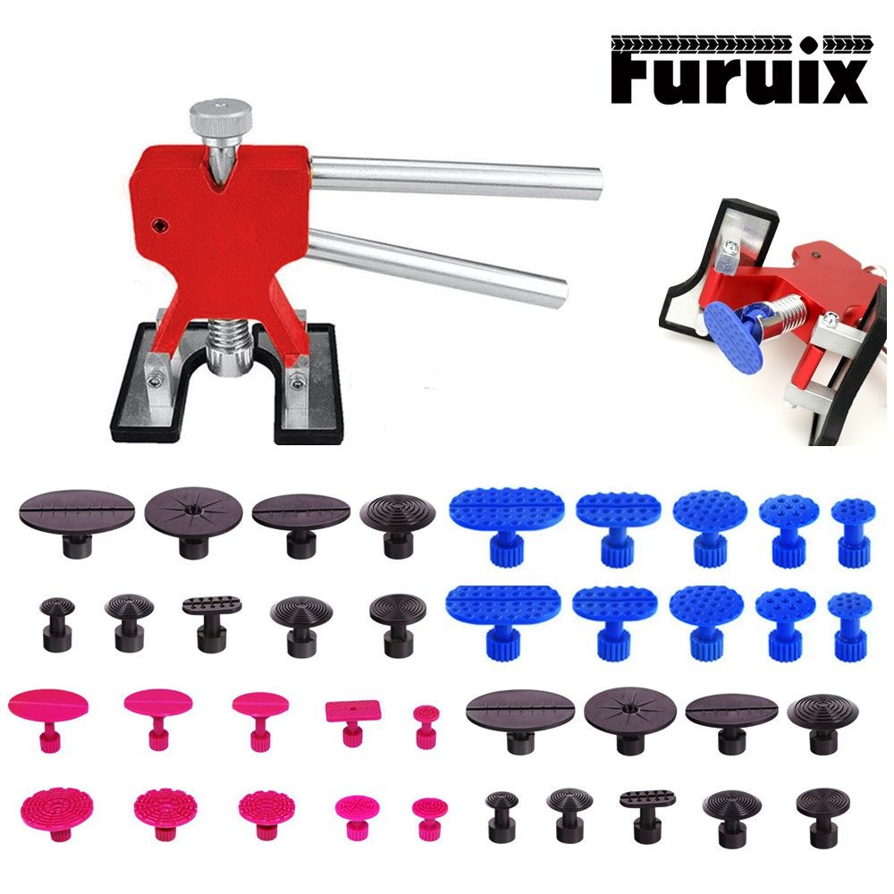 PDR removing dents Paintless Dent Repair Tool Dent Removal Puller Tabs suction cup glue tabs for Hail Damage Hand Tools Set