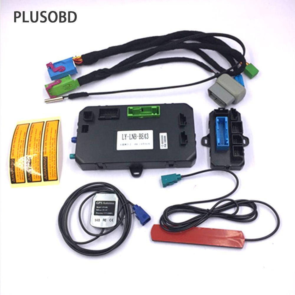 PLUSOBD GSM Car Alarm System Remote Engine Starter GPS Tracker Car Locator W/O Key Inside Car For Benz ML W164 GL X164 R W251