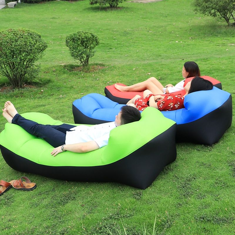 Falten faul Liege banana schlafsack aufblasbaren Sofa mit Tragetasche Sitzsack luftbett sessel für Sommer Strand angeln