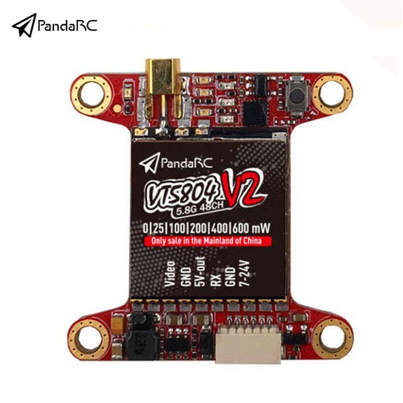 PandaRC 5804 V2 5.8G 48CH 25/100/200/400/600mW Switchable FPV Transmitter TX VTX for FPV Racing Drone 7-24V for Multirotor DIY