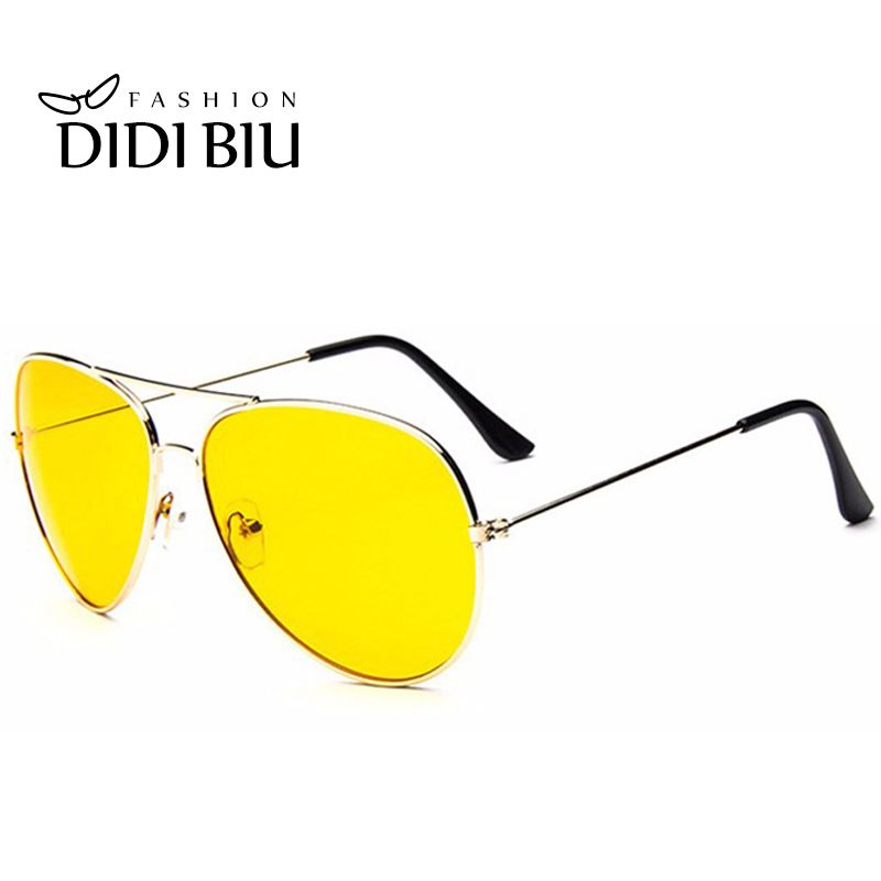 DIDI jour et nuit jaune lunettes de soleil femmes hommes marque de luxe surdimensionné Aviation conduite lunettes accessoires lunettes chaude Lunette W309