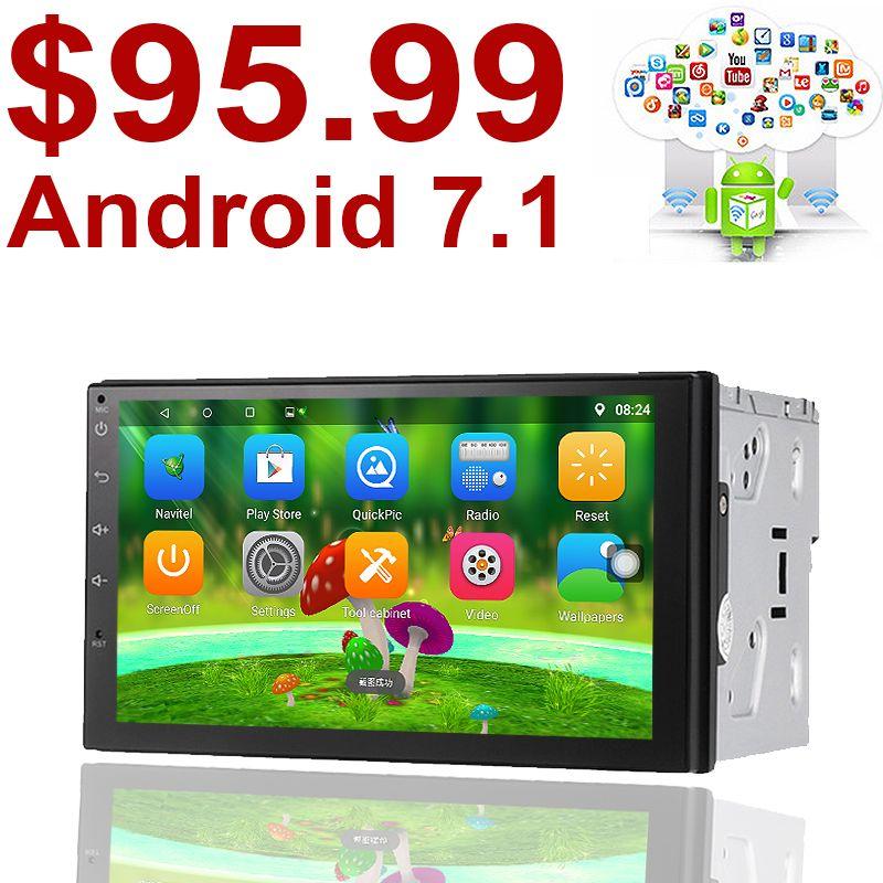 Unterstützung tupfen 2 din Android 7.1 Auto (keine) DVD player GPS + Wifi + Bluetooth + Radio + Quad Core 7 zoll 1024*600 bildschirm autoradio radio