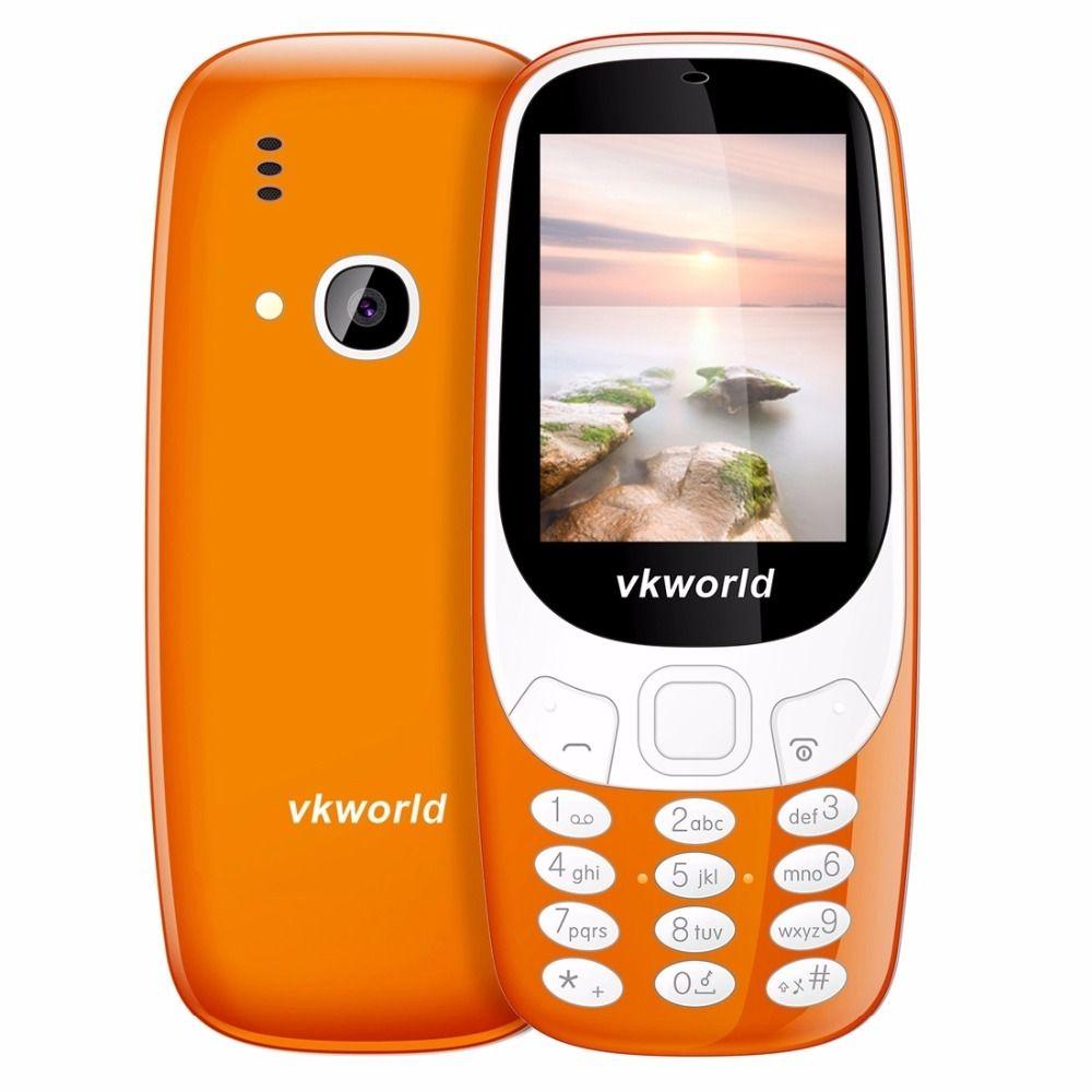 Original VKWorld Z3310 Elder Mobile Phone 2.4 inch 3D Screen Dual SIM Card Big Speaker 2.0MP FM LED Light 1450mAh Mini Cellphone