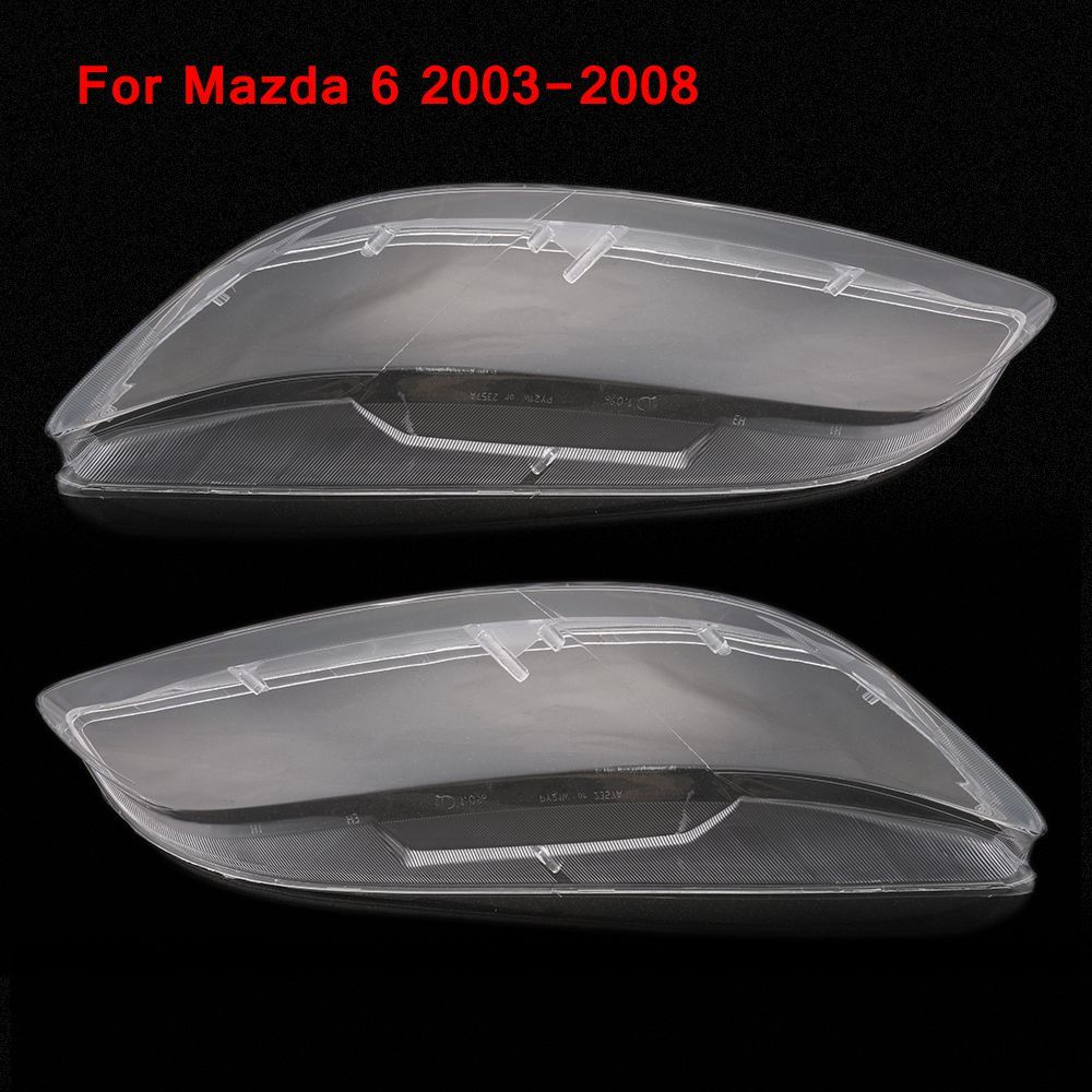 2 pcs Headlight Lens Car Headlamp Lens For Mazda 6 2003-2008 Clear Cover Case for Lampshade Bright Shell Left & Right