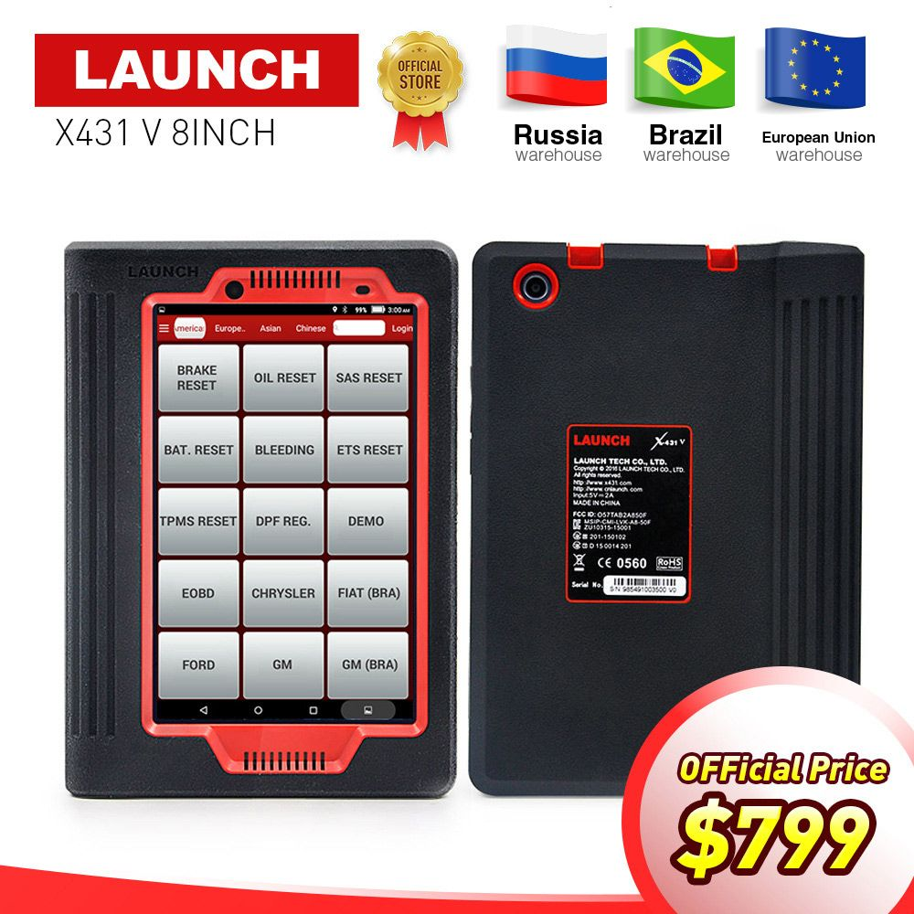 LAUNCH X431 V Auto OBD2 Full System Diagnostic Tool Support Bluetooth/Wifi X-431 V 8 version Scanner with 2 years free Update