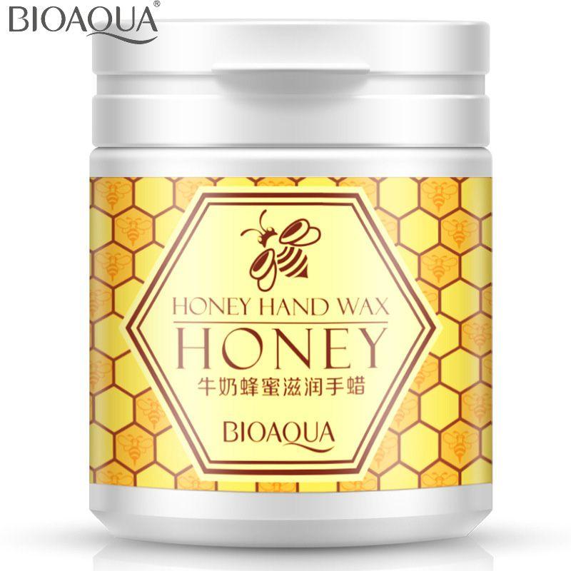 Bioaqua молоко Мёд увлажняющий рук Воск парафин Для ванной отбеливающий крем для рук увлажняющий кутина Мембрана удалить возрасте Рог 170 г