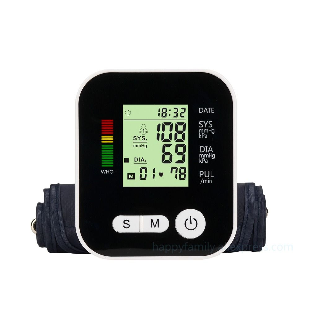Digital Upper Arm Blood Pressure Pulse Monitors tonometer Portable health care bp Blood Pressure Monitor meters sphygmomanometer