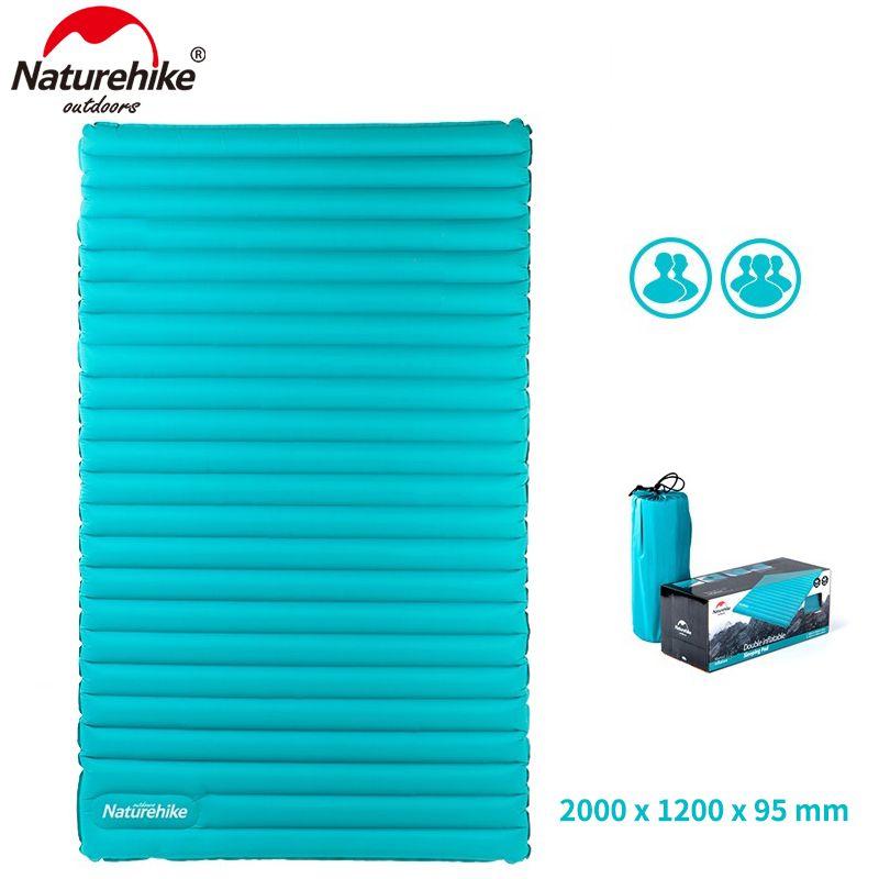 Naturehike 2-3Person Outdoor Camping Inflatable Sleeping Pad Ultralight Press Type Air Mattress TPU Waterproof Tent Mat