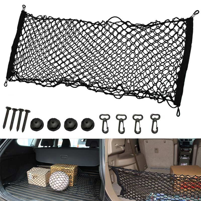 New Universal Car Interior Trunk Cargo Storage Organizer Net Bag Mesh Pockets Luggage Holders Hatchback 110x50cm DXY88