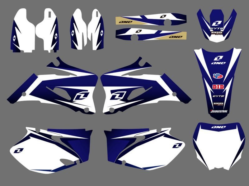 0019 New Style TEAM GRAPHICS&BACKGROUNDS DECALS STICKERS Kits Fit Yamaha YZ250F YZ450F 2006 2007 2008 2009 YZ 250F 450F