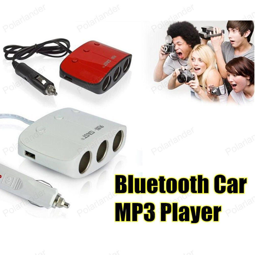 Bluetooth Car Kit FM Transmitter MP3 Player 3.5mm Audio AUX TF card Slots Dual USB Car Charger For iPhone Samsung GPS