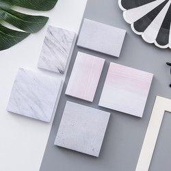 Corea textura de mármol lindo kawaii Cuadernos de notas papelería post it oficina papel de nota pegajoso libreta diario artículo planificador