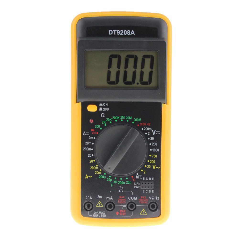 Professionnel LCD Affichage De Poche Multimètre Numérique AC/DC Voltmètre Ampèremètre Ohmmètre Volt Amp Ohm Mètre Température Hz Testeur