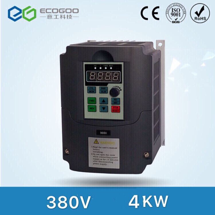 CE APPROVED 4KW 4000W 5HP 400Hz variable frequency drive VFD inverter for cnc spindle motor,Input 380V 3Phase Output 380V 3Phase