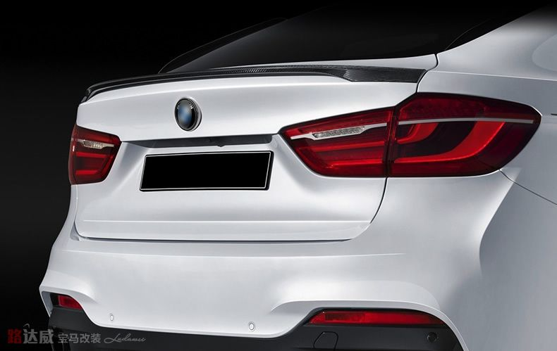 Для BMW X6 x серии X6 F16 2014 2015 2016 2017 Высокое качество углерода Волокно Материал задний спойлер хвост Магистральные крыло загрузки губ литья