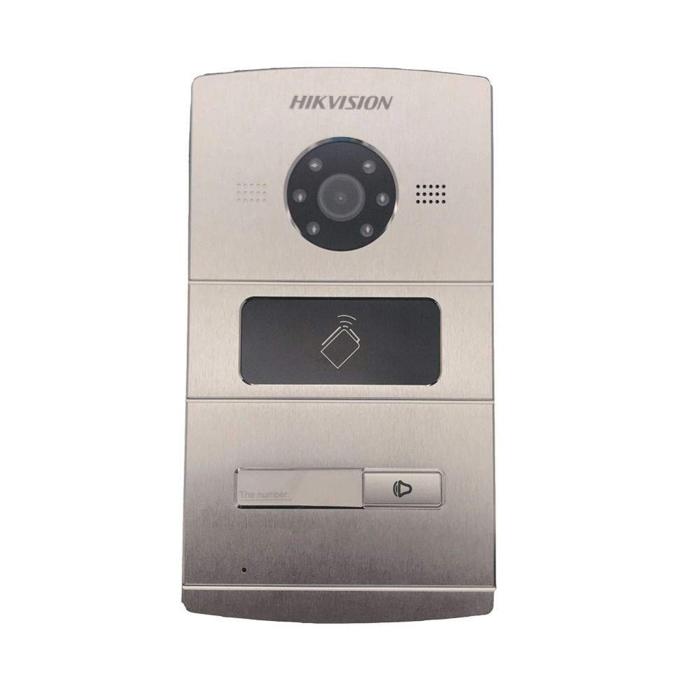Hikvision Vidéo Interphone DS-KV8102-IM, WDR caméra, Visuel sonnette d'interphone étanche, carte ic, interphone ip