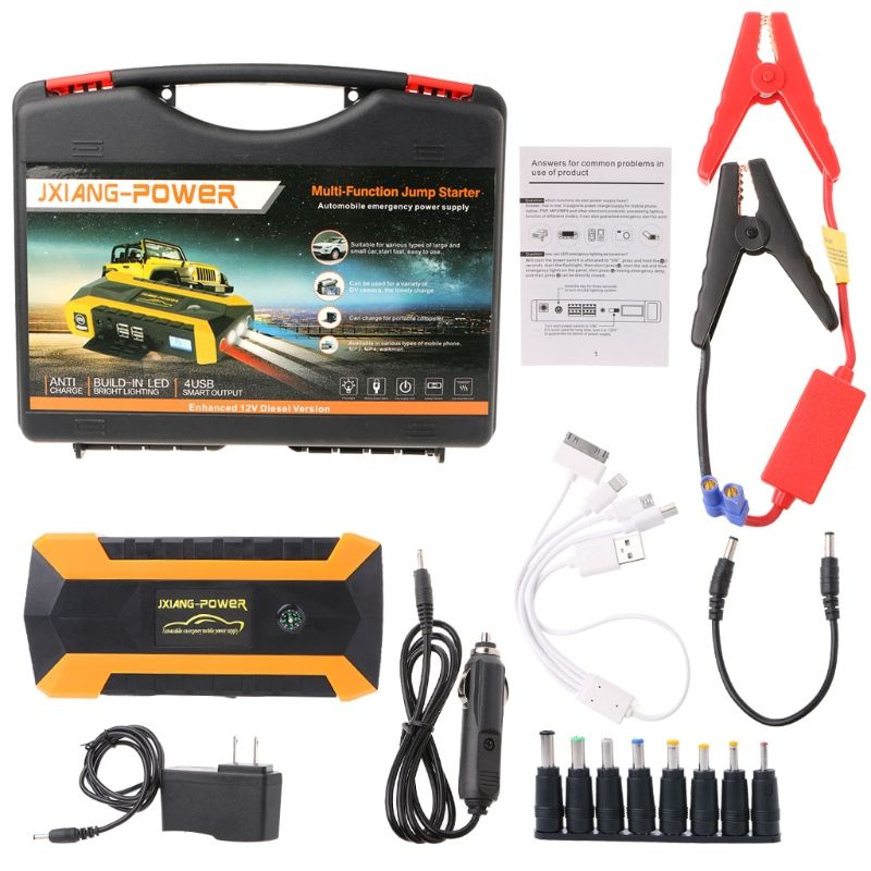 89800mAh 4 USB Portable Car Jump Starter Pack Booster Charger Battery Power Bank Support fast charging With SOS Lighting