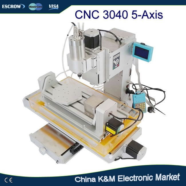 Newest 5 Axis mini CNC engraving machine wooden router 3040 1.5KW water cooling spindle CNC engraver