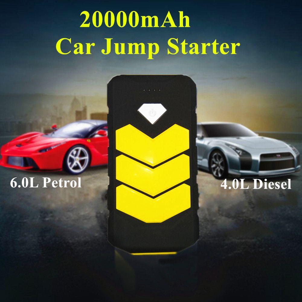 New Arrival 20000mAh Car Jump Starter 12V Portable Starter Power Bank Jumper Booster Starting Device Petrol Diesel Car Charger