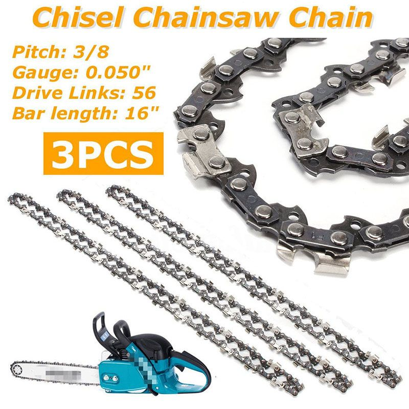3* 16 Semi Chisel Chainsaw Chain for Makita DC UC NB DCS-3/8 0.050 56 DL New