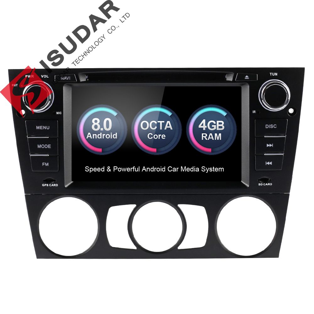 Isudar Car Multimedia Player GPS Android 8.0 For BMW/3 Series E90/E91/E92/E93 Radio Capacitive Touch Screen Rear view camera FM