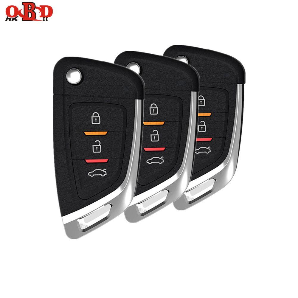HKOBDII 3/10 teile/los Universal 3 Tasten VVDI2 Draht Fernbedienung Auto Schlüssel für Xhorse MINI Schlüssel Programmierer VVDI Schlüssel werkzeug Englisch Version