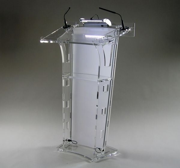 Hot Sell Transparent Acrylic Lectern Factory Sell Clear Acrylic Podium Pulpit Lectern Church Lectern