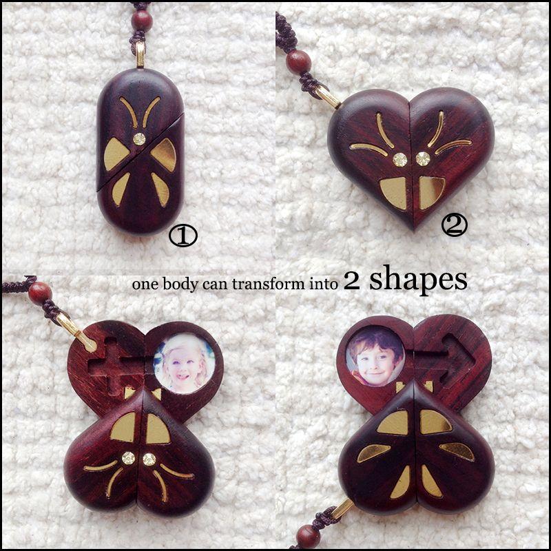 Иллюзионист медальон бабочка Pterocarpus santalinus подвеска Волшебная бабочка трюк Рождественский подарок ко Дню Святого Валентина