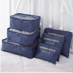 IUX Nylon Emballage Cube Voyage Sac Système Durable 6 Pièces Ensemble Grande Capacité De Sacs Unisexe Vêtements De Tri Organiser En Gros