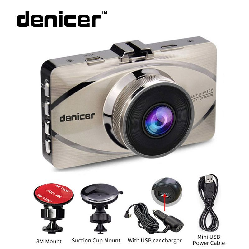 Denicer Novatek 96655 Car DVR Camera Full HD 1920x1080P Video Recorder 170 Degree Dash Camera Registrar Night Vision Dash Cam