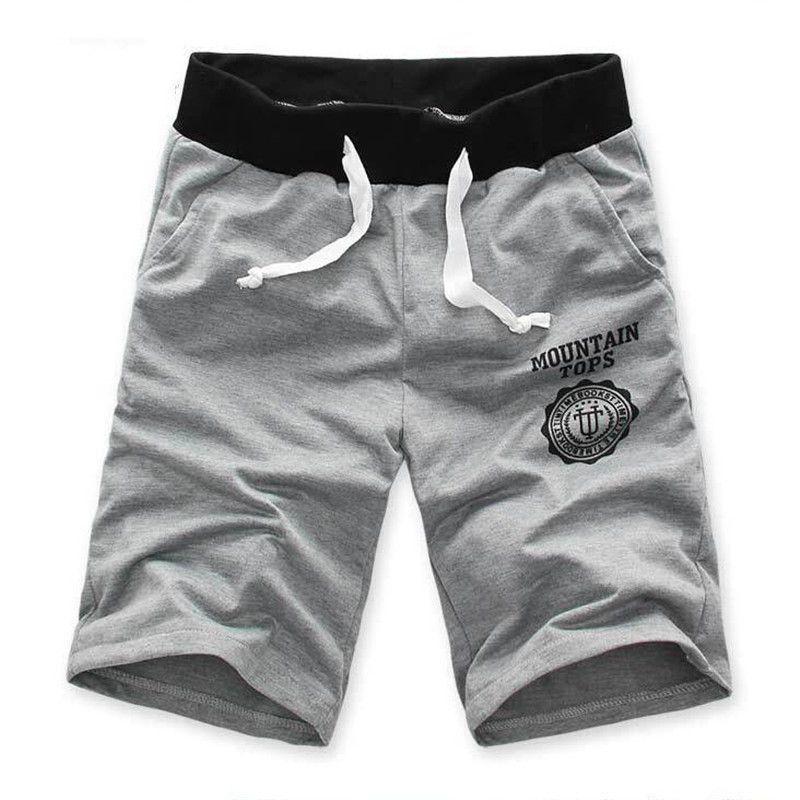 Neuer Heißer Verkauf Mode Komfortable Shorts Men Casual Strand Hosen Schwarz/Grau Lose Kurze Stil Beiläufige Feste Hosen Männer kleidung