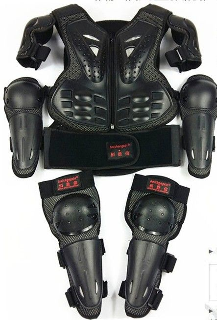 SX081 Motorcycle Armor Armor Jacket Child Protective Kits Sports Knee Elbow sets 6