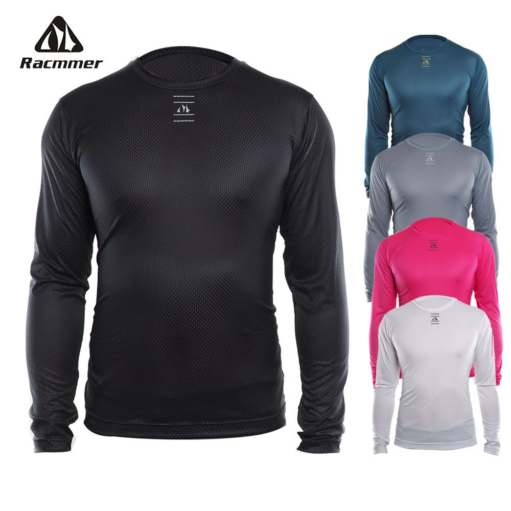 Racmmer 2018 Bike Cool Mesh Fitness Cycle Cycling Base Layers Bicycle Long Sleeve Shirt Sport Breathbale Underwear Ciclismo