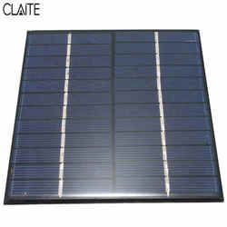 CLAITE 12V 2W 160mA Polycrystalline silicon Mini Solar Panel module Cell  For Charger DC Battery DIY 136x110mm Quality Wholesale