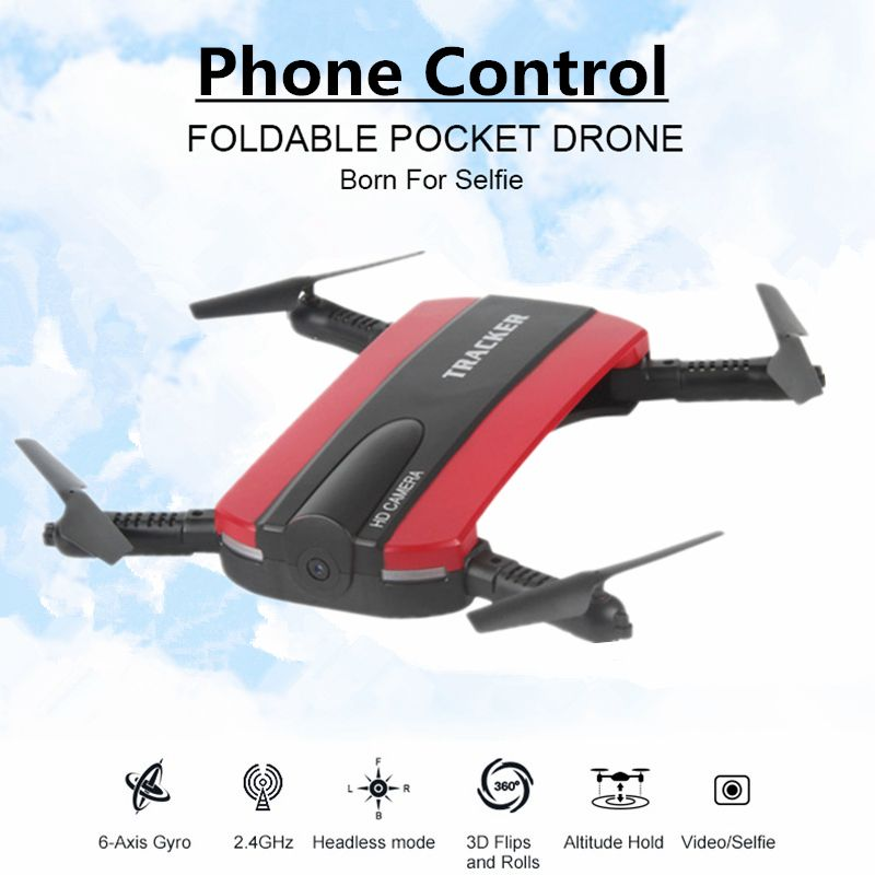 <font><b>Selfie</b></font> Drone With WIFI FPV Camera Foldable Pocket RC Quadcopter Phone Control Helicopter Wifi Mini Dron VS JJRC H37 Elfie Drone