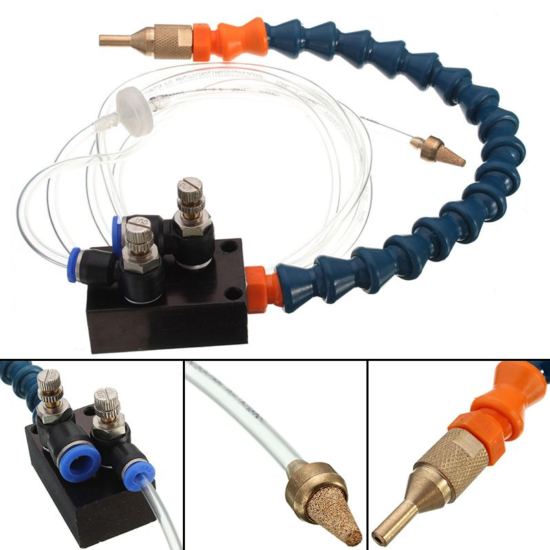 1pc Mist Coolant Lubrication Spray System High Quality Mist Coolant System For 8mm Air Pipe CNC Lathe Milling Drill