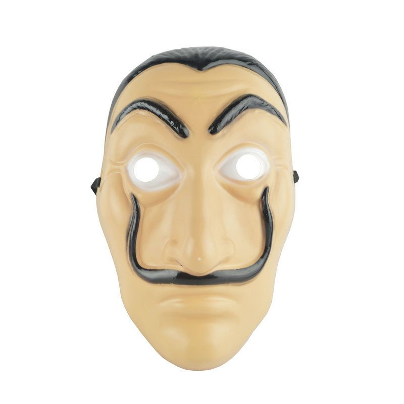 Salvador Dali Face Masks Wholesale 50/100 pcs/set La Casa De Papel Face Latex Cosplay Mask Adult Realistic Plastic Party Mask