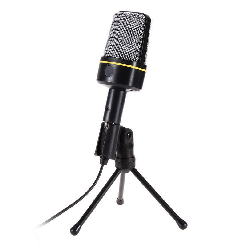 Конденсаторный звук проводной микрофон с подставкой держатель зажим для пения караоке портативных ПК