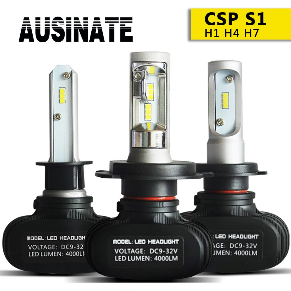 H4 Led H7 H1 H11 Car Headlight Bulbs S1 CSP Chips H3 H8 H9 HB3 HB4 9005 9006 LED Fog Light 50W 8000LM 6500K Car lights