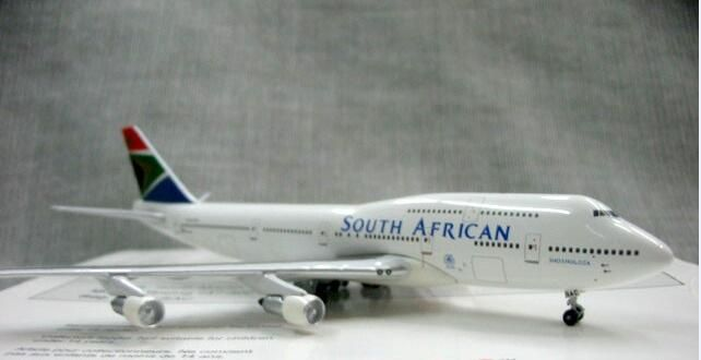 Out of print Genuine 1:500 Scale South African ZS-5AC 747-300 alloy aircraft model Rare collection model Only one