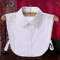Ladies Women Adult Detachable Lapel Shirt Fake Collar Fashion Solid Color False Blouse Neckwear Clothing Accessories