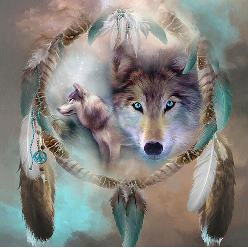 3D поделки алмазов картина волк Мозаика Кристалл 5D вышивки крестом площадь дрель алмазного Вышивка Стикеры украшения Картины полный