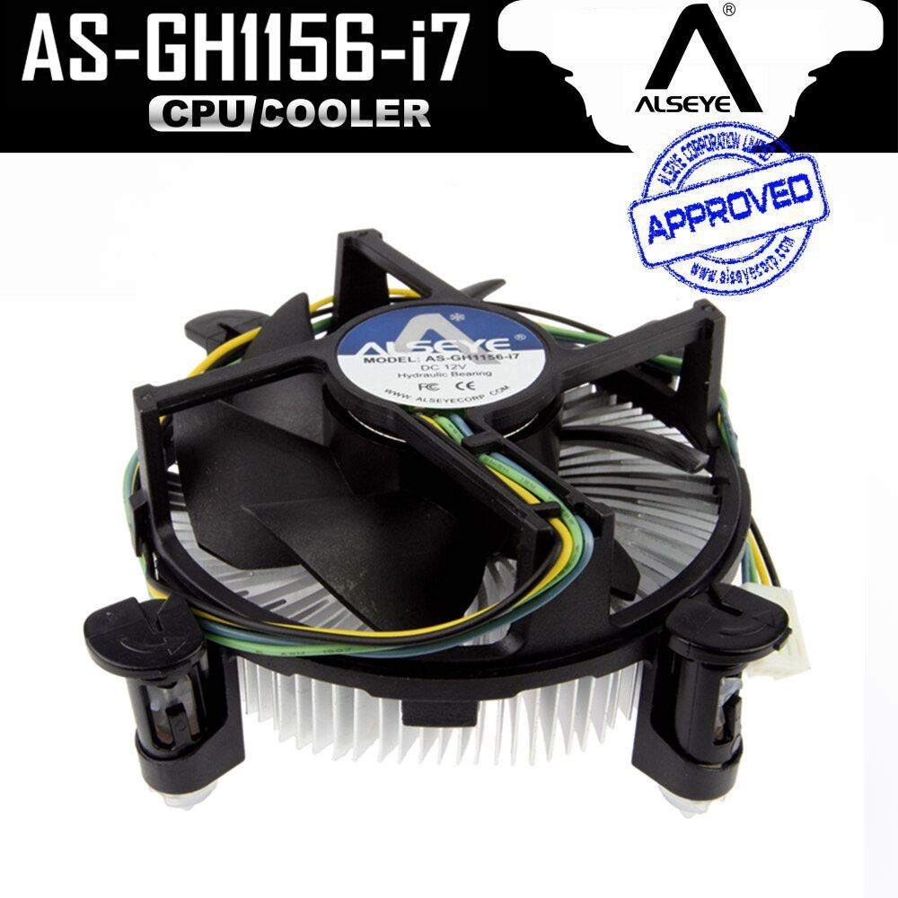 ALSEYE CPU cooler Copper and Aluminum Heatsink with 90mm PWM 4pin CPU Fan for i3/i5/i7, LGA 1150/1151/1155/1156