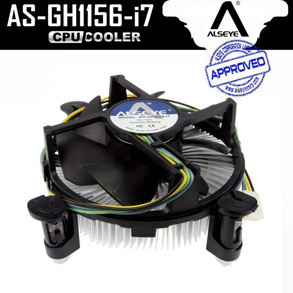 ALSEYE CPU refroidisseur De Cuivre et En Aluminium Radiateur avec 90mm PWM 4pin CPU Ventilateur pour i3/i5/i7, LGA 1150/1151/1155/1156