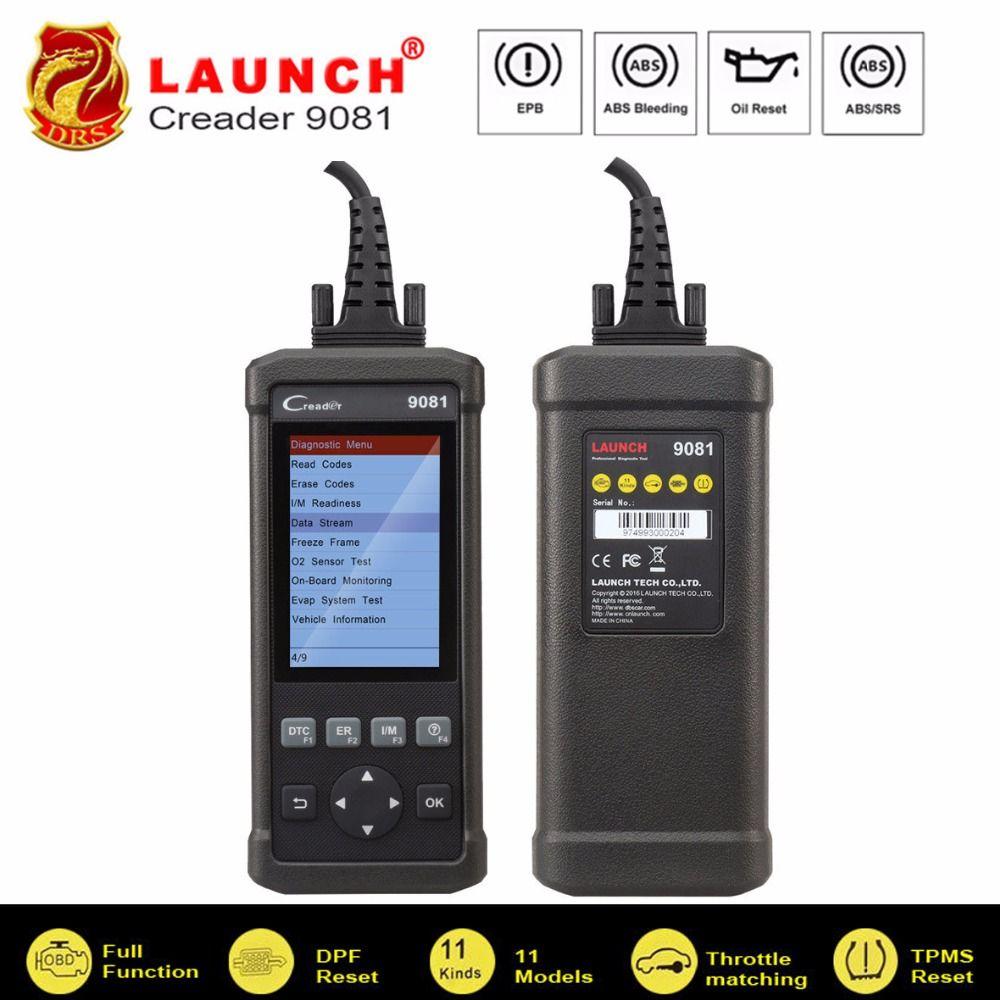 OBD2 Scanner Launch CReader 9081 Volle OBD2 Diagnosescan-werkzeug Auto Code Reader OBDII Öl EPB BMS DPF TPMS ABS blutungen CR9081