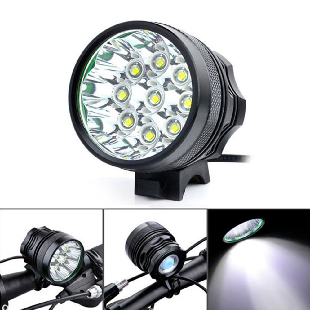Super Bright 10000Lm 9 x XM-L T6 LED Camping Bicycle Light Bike Light Cycling Flashing Light Lamp with 8 x 18650 Battery Pack