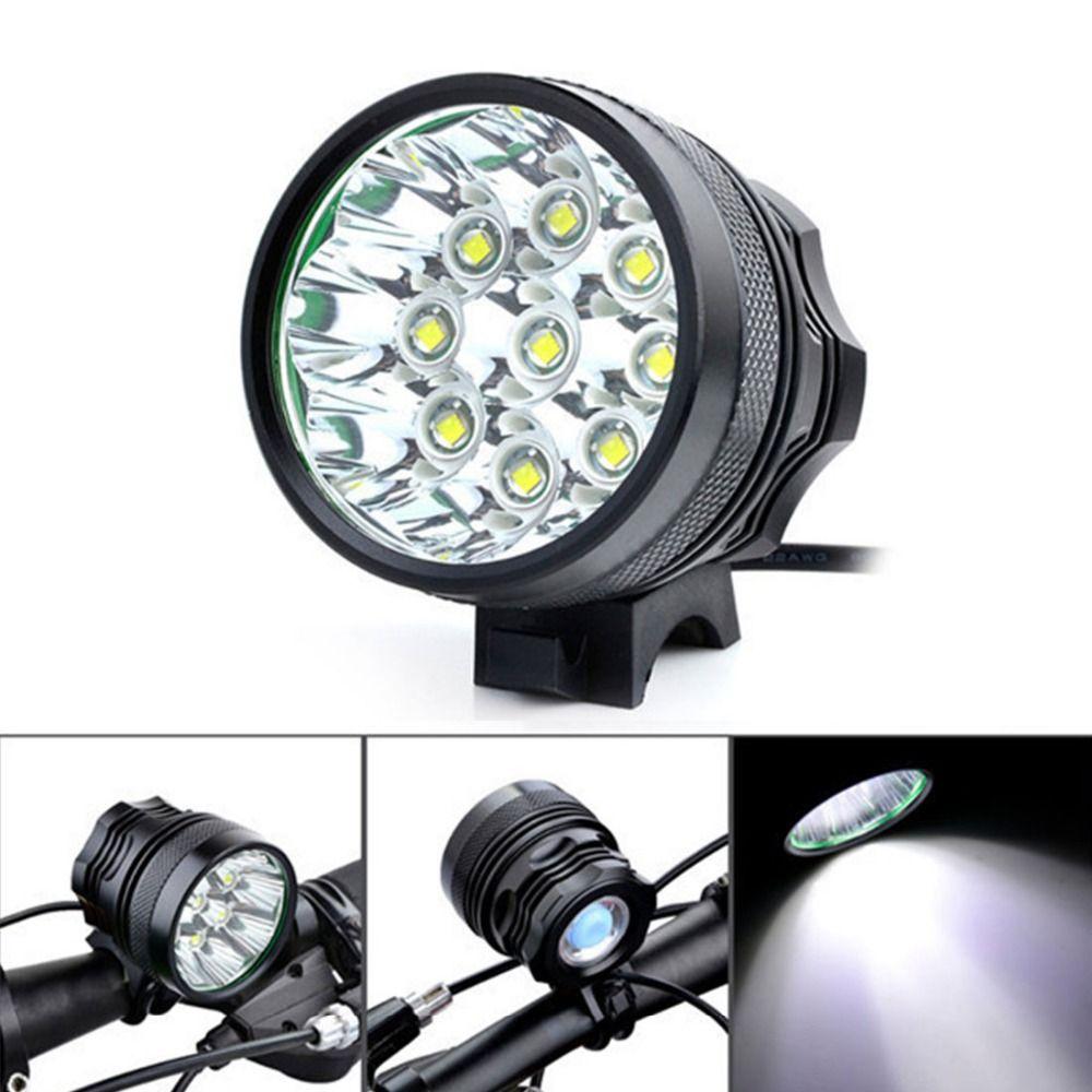 Super Lumineux 10000Lm 9 x XM-L T6 LED Camping Lumière De Vélo Vélo Lumière Vélo Clignotant Lumière Lampe avec 8x18650 Batterie