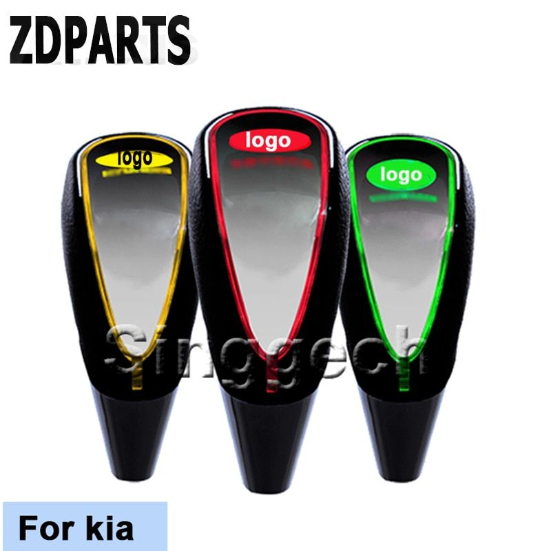 ZDPARTS Car Styling Gear Shift Knob Touch Sensor Colourful LED Light  5/6 Speed For Kia Rio K2 Ceed Soul Cerato Sorento Sportage