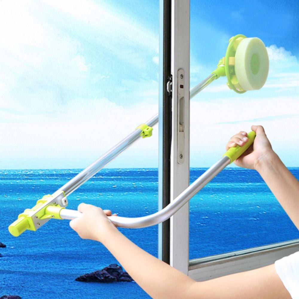 <font><b>telescopic</b></font> High-rise window cleaning Sponge glass cleaner brush mop for washing windows brush clean windows for hobot 168 188