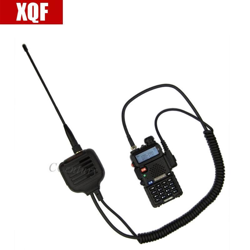 XQF BAOFENG Microphone Haut-Parleur pour Ham Two Way Radio Talkie Walkie UV5R GT3 888 s avec antenne